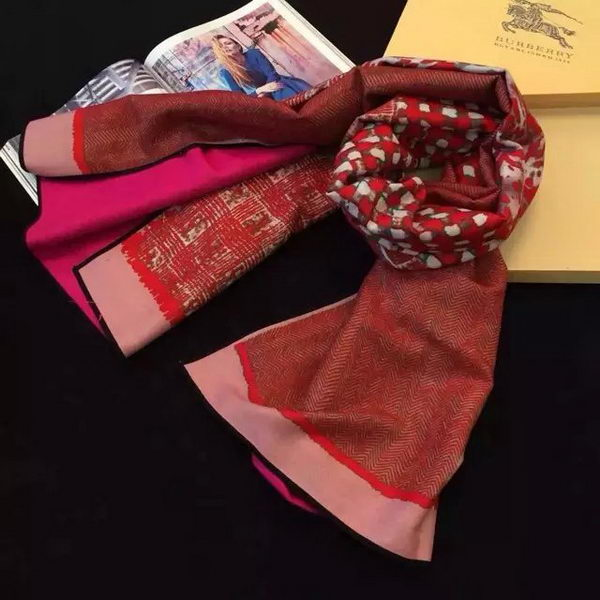 Burberry Scarves Cashmere BUR22 Red