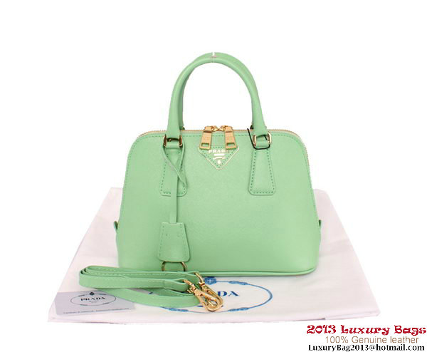 Prada BL0838 Green Saffiano Leather Tote Bag