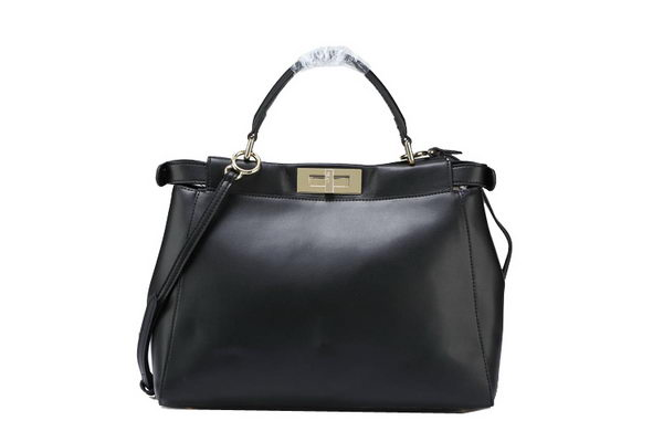 Fendi Icoic Peekaboo Bag Original Smooth Leather F5500 Black