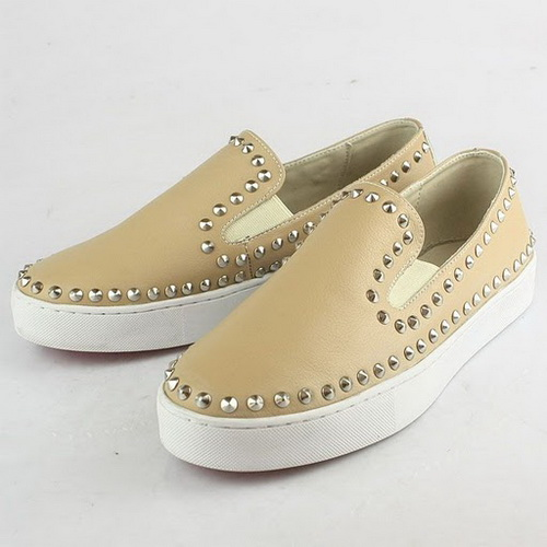 Christian Louboutin Beige Rollerboy Loafers Shoes