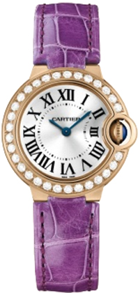 Cartier Ballon Bleu Small Series Beautiful Ladies Swiss Quartz Wristwatch-WE900251