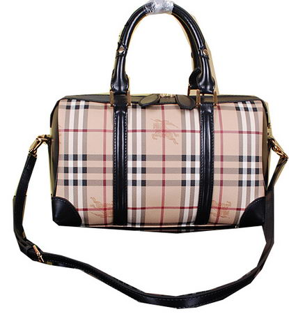 Burberry Medium Haymarket Check Bowling Bag BU38009 Black