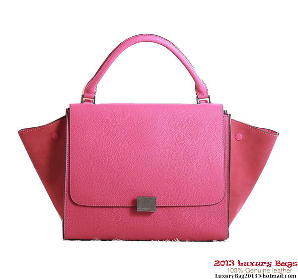 Celine Trapeze Top Handle Bag Clemence Leather 3342 Rose