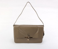 Celine Clasp Calfskin Shoulder Bag 80018 Gray