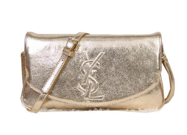 Yves Saint Laurent Belle Du Jour Clutch Calf Leather YSL8904 Gold