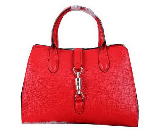 Gucci Jackie Soft Leather Top Handle Bag 365460 Red