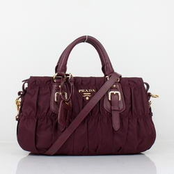 Hot products Prada Gaufre Fabric Top Handle Bag BN1407 Maroon