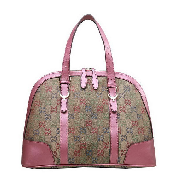 Gucci Nice Multicolour Supreme Canvas Small Top Handle Bag 309617 Pink