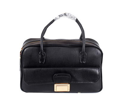 miu miu Original Goat Leather Tote Bag RT0093 Black