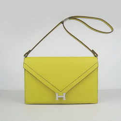 Hermes Lemon Shoulder Bags with Silver Hardware H021