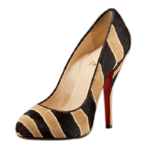 Christian Louboutin Bicho Striped Suede Pumps