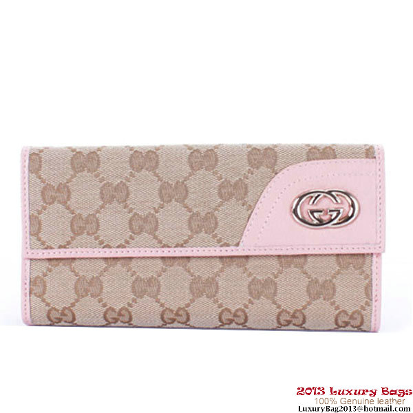 Gucci Trendy Wallet With Interlocking G Ornament 181595 Pink