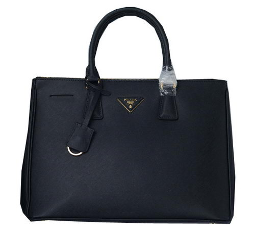 Prada Saffiano Calfskin Leather Tote Bag PBN1786 Black