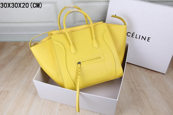 Celine Luggage Phantom Tote Bag Ferrari Leather 3341 Yellow