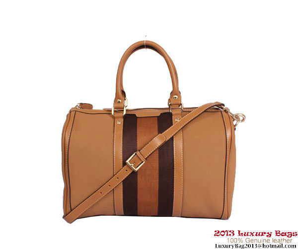 Gucci Vintage Web Medium Boston bag 247205 Camel