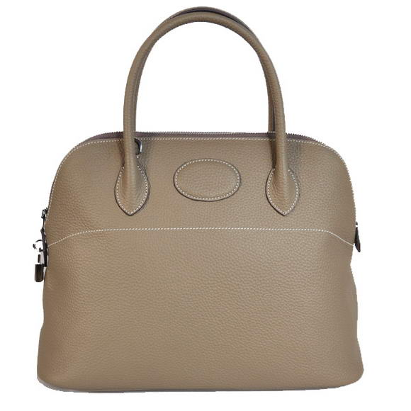 Hermes Bolide 37CM Tote Bags Clemence H1037 Grey