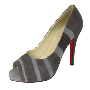 Christian Louboutin Red Sole Shoes Bicho Striped Suede Pump