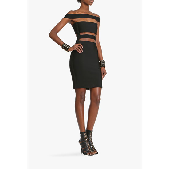 BALMAIN WOMEN STRETCH VISCOSE AND JERSEY DRESS