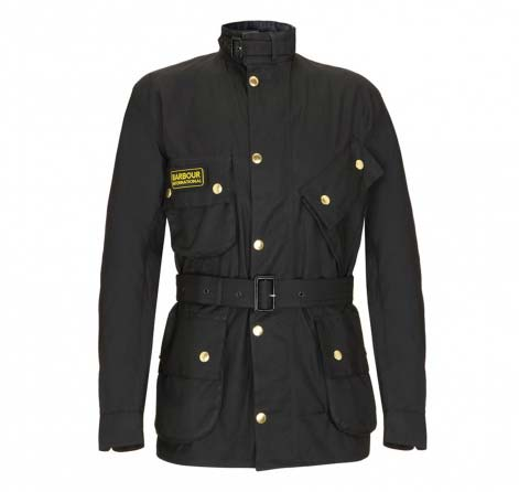 Mens Barbour International Trials Jacket Black