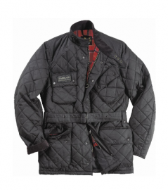Barbour Mens Quilted International Jacket- Black