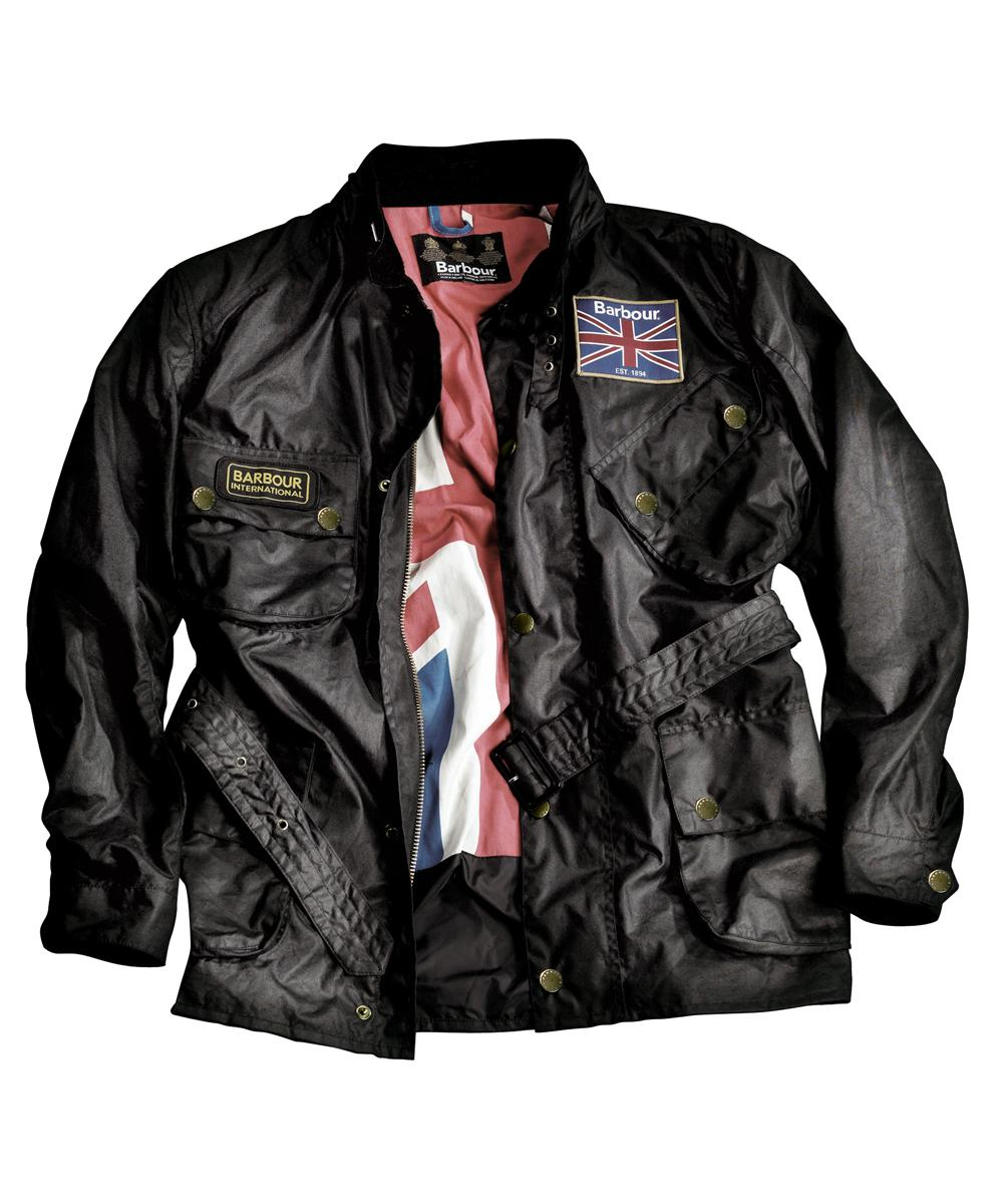 Barbour Union Jack International Wax Jacket Black