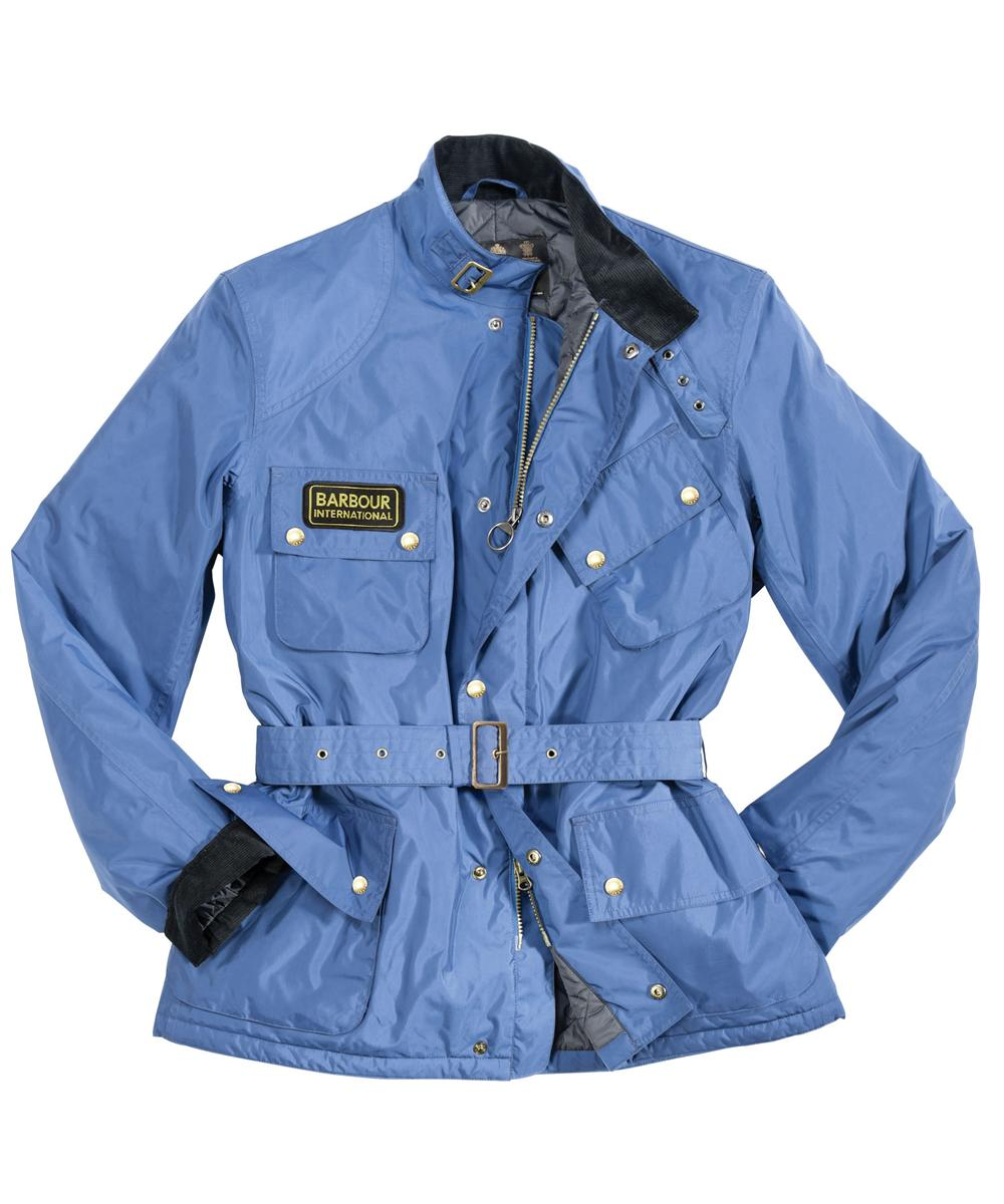 Mens Barbour Lightening Waterproof Jacket Atlantic Blue