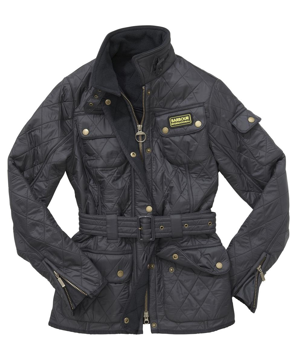 Barbour Ladies International Polarquilt Jacket Navy