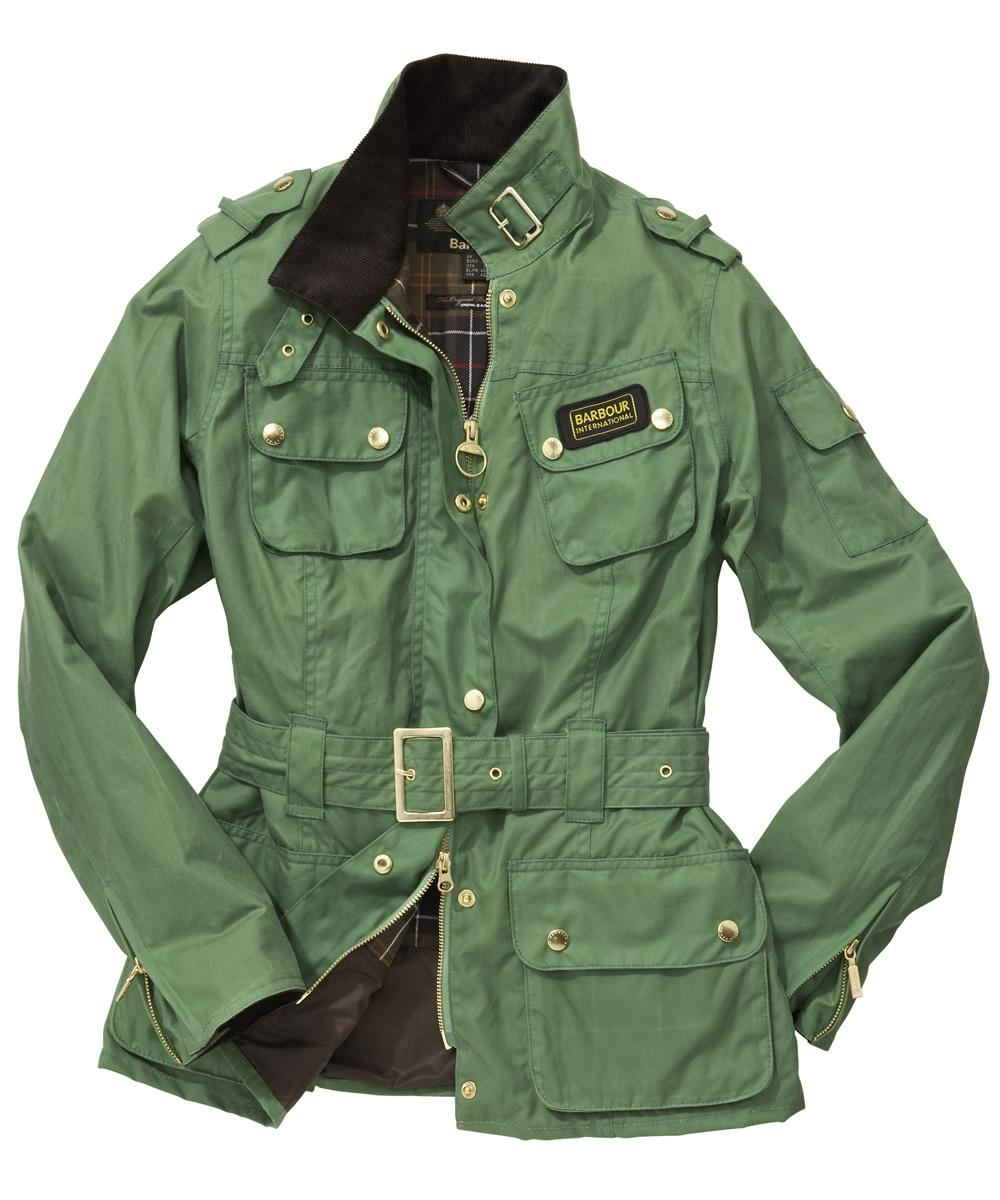 Womens Barbour Summer Waxed International Jacket - Turf