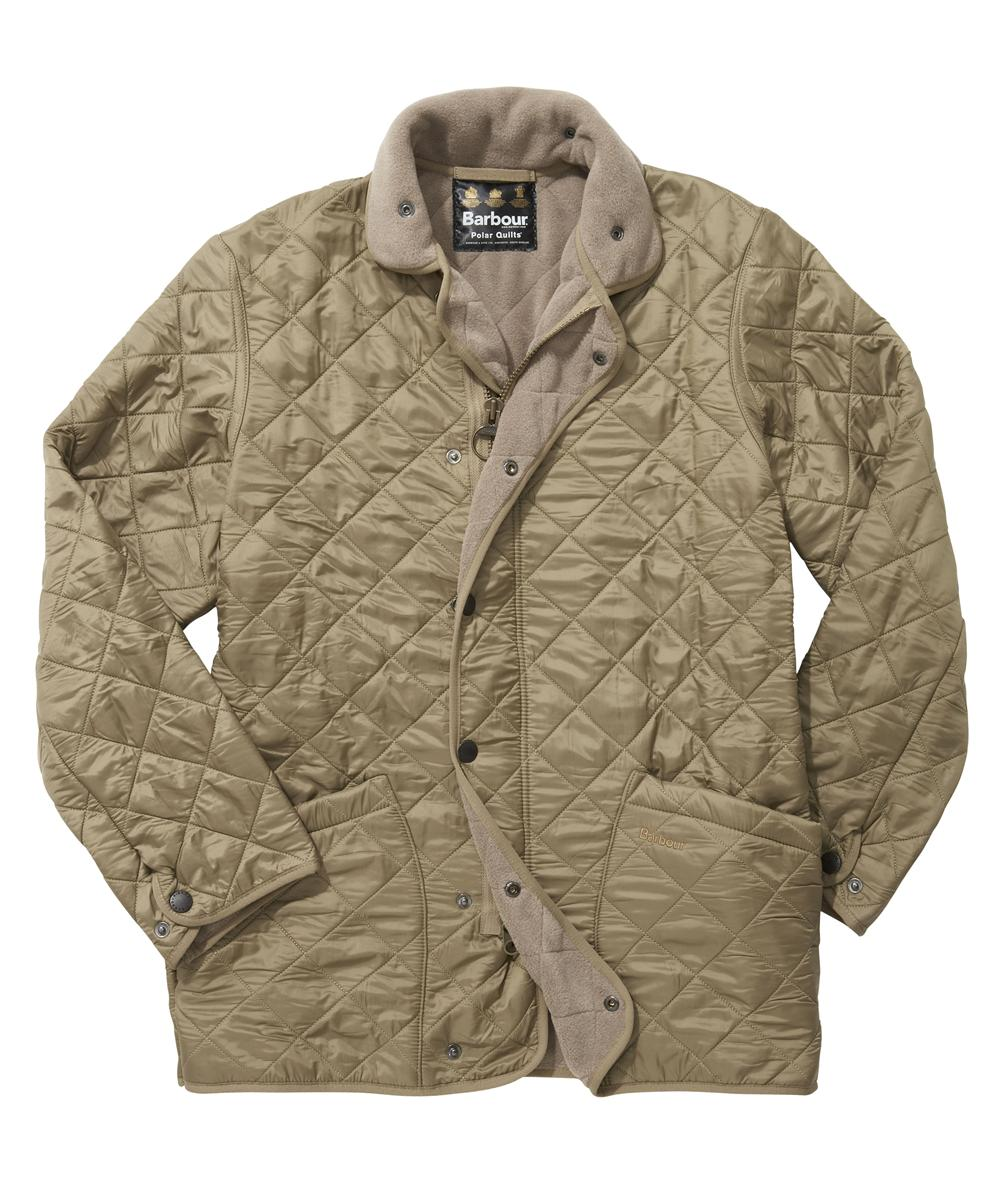 Barbour Mens Polarquilt Jacket - Long - Beige