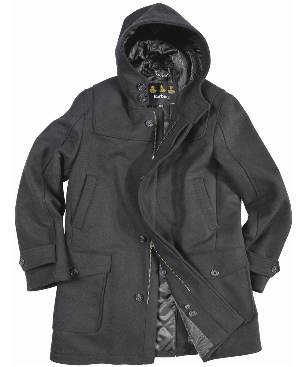 Barbour Mens Duffle Plain Coat- Black