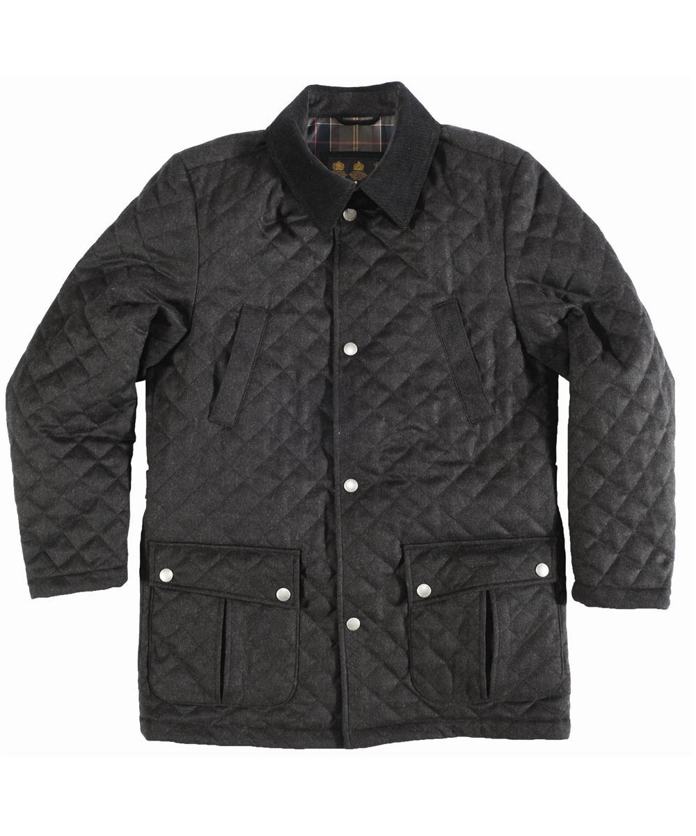 Mens Barbour Wool Spofforth Jacket Dark Anthracite