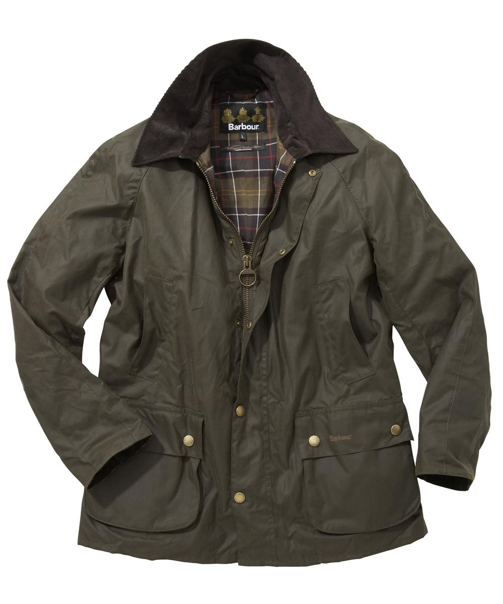 Mens Barbour Ashby Waxed Jacket - Mid Olive