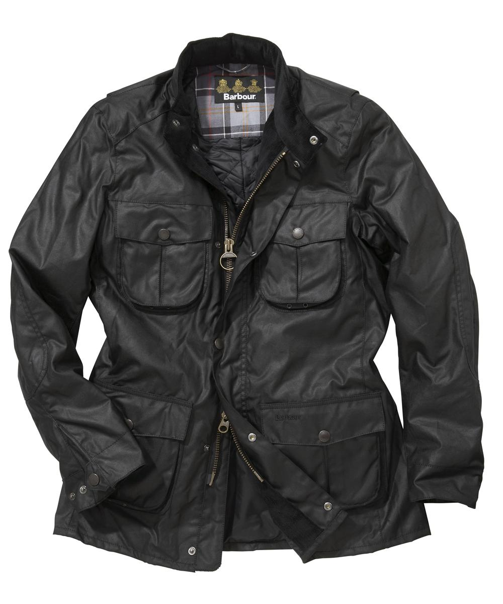 Mens Barbour Corbridge Waxed Jacket - Black