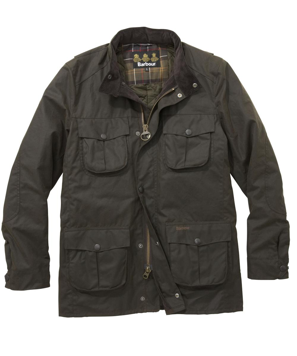 Mens Barbour Corbridge Waxed Jacket - Olive