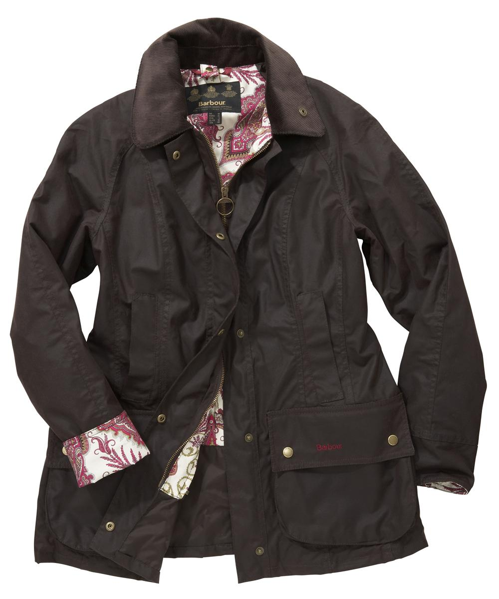 Womens Barbour Liberty Beadnell Waxed Jacket Rustic|Lord Paisley