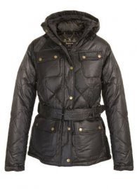 Barbour Nation Down Quilted Jacket Dark Brown