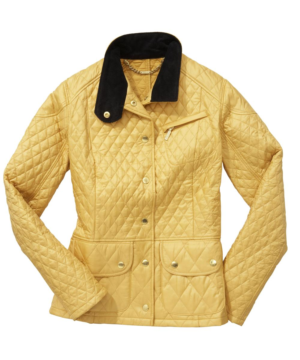 Womens Barbour Cruise Quilted Jacket - Golden Yellow