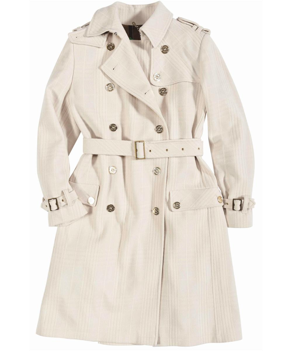 Barbour Honour Trench Coat Winter White