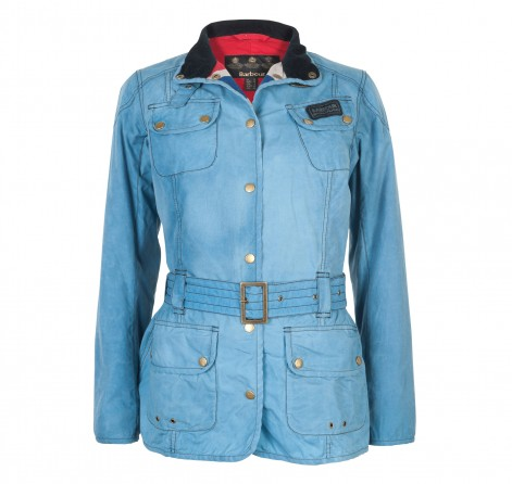 Womens Barbour Vintage International Jacket - Denim Blue
