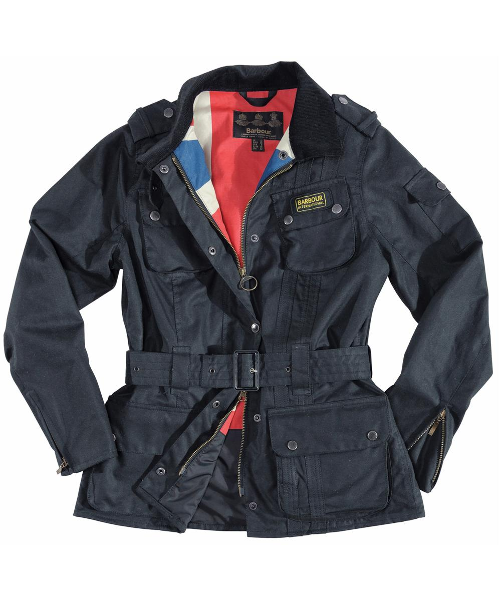 Barbour Ladies Antique Union Jack International Jacket - Navy | Union Jack