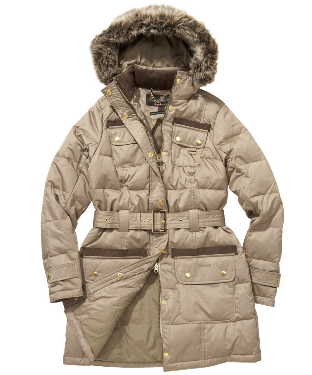 Womens Barbour Arctic Down Parka - Dark Stone