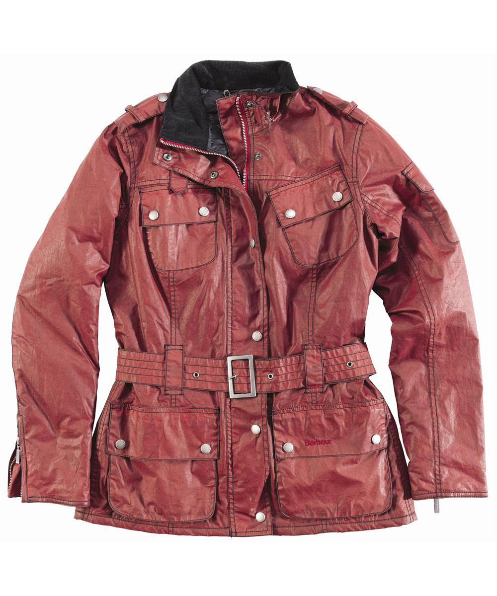 Barbour Distressd Nation Jacket Red