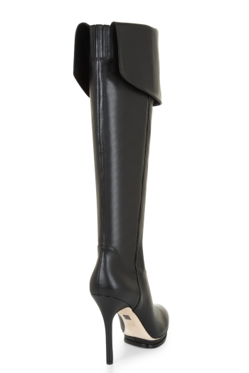 BCBGMAXAZRIA VALERIE OVER-THE-KNEE LEATHER BOOT