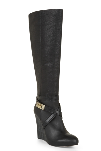 BCBGMAXAZRIA REMY LEATHER WEDGE BOOT