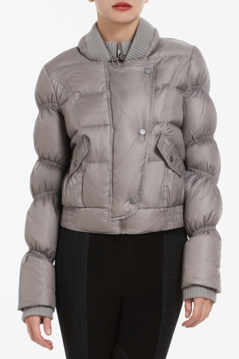BCBGMAXAZRIA ANGELICA DOWN MOTORCYCLE JACKET