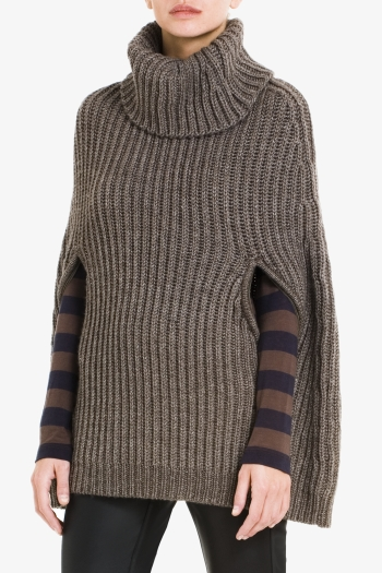 BCBGMAXAZRIA HARVEY TURTLENECK CAPE