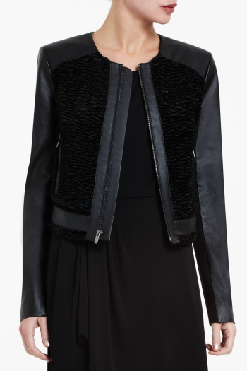 BCBGMAXAZRIA BERNICE LEATHER JACKET
