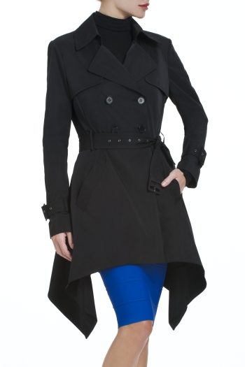 BCBGMAXAZRIA OPHELIA NOVELTY TRENCH COAT