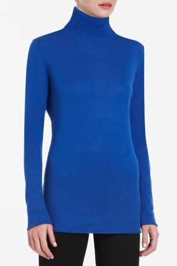 BCBGMAXAZRIA TIANA SILK-BLEND TURTLENECK