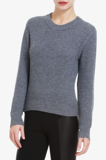 BCBGMAXAZRIA SAGE WAFFLE-STITCH WOOL-BLEND SWEATER